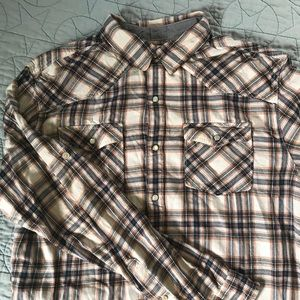 Urban Pipeline Button Up Plaid Top